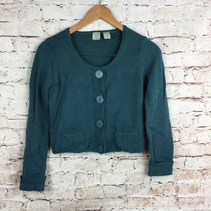 Anthropologie HWR Angora Wool Sweater Elbow Patch